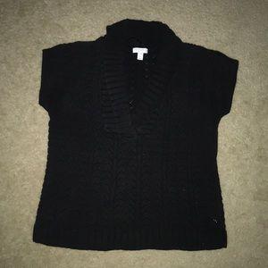 Petite Charter Club Black V Neck Sweater
